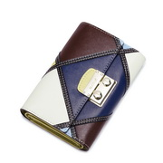 NUCELL Genuine Leather Top Selling Contrast Color Wallet Coffee