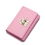 NUCELLE colorful sweet women leather wallet  Pink