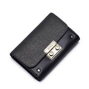 NUCELLE Genuine leather short wallet  black