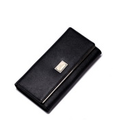 NUCELLE long style leather wallet black