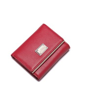 NUCELLE short style leather wallet red