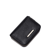 Soft ice cream powder series leather wallet Black