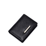 Soft ice cream powder series leather card wallet Black