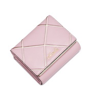 NUCELLE Genuine leather lady Short Style Wallet Pink
