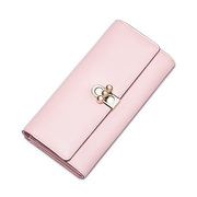 NUCELLE Genuine Leather Newest Spring Long Style Wallet Pink