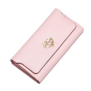 NUCELLE 2016 Cowhide Leather Vintage Style Wallet Pink