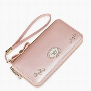 JUST STAR PU Leather Summer New  Long Style Wallet Pink
