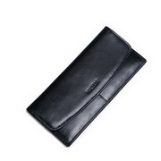 NUCELLE Cowhide Leather 2016 Autumn Ultrathin Fashion Style Wallet Black