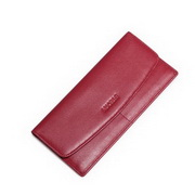 NUCELLE Cowhide Leather 2016 Autumn Ultrathin Fashion Style Wallet Red