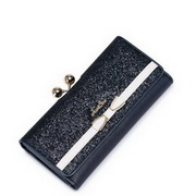 JUST STAR PU Leather 2016 Autumn Stylish Long Style Wallet Blue