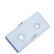 JUST STAR PU Leather 2017 New Blue Sea World Series Wallet