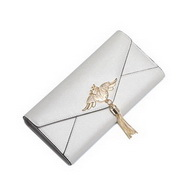 NUCELLE Top PU Leather 2017 New Fashion Simple Long Style Wallet Pearl White