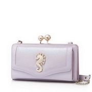 NUCELLE 2017 Romantic Holiday Style Clutch Bag Purple
