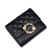 NUCELLE 2019 New Elegant Floral Short Wallet Black
