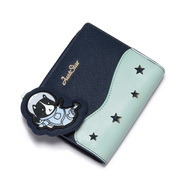 JUST STAR PU 2017 New Special Space Series Wallet Blue
