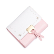 JUST STAR PU 2018 New Sweet Macaron Wallet Pink