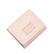 JUST STAR PU 2018 New Sweet Girls Horizontal Wallet Pink