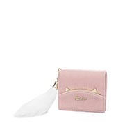 JUST STAR PU 2018 New Cute Short Style Wallet Pink