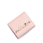 JUST STAR PU 2018 New Lovely Cute Short Wallet Pink