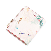JUST STAR PU 2019 New Season Vintage Printing Wallet Pink