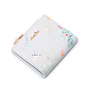 JUST STAR PU 2019 New Season Vintage Printing Wallet Light Blue