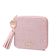 JUST STAR PU 2019 New Summer Lovely Cat Wallet Pink