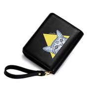 JUST STAR 2019 New Cute Cat Wallet Black