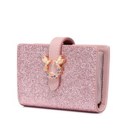 JUST STAR 2019 New Cute Shiny Card Pocket Pink