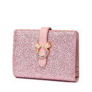 JUST STAR 2019 New Cute Shiny Wallet Pink