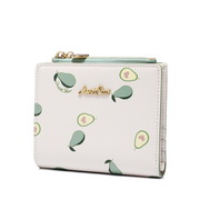 JUST STAR 2020 New Fresh Avocado Cute Wallet Green