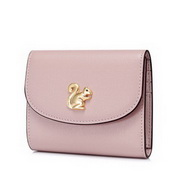 JUST STAR 2020 New Cute Short Wallet Pink