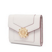 JUST STAR 2020 New Fashion Sunflower Lady Urban Wallet Purse White