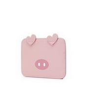 JUST STAR 2020 Mini Cute Pig Design Girl Card Bag Pink