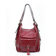 leisure  leather multi-use bag Red