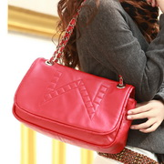 Sheepskin dual-function hobos bag Red