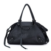 cowhide leather  bag Black