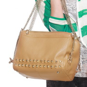Wholesale Genuine leather lady hobos bag Apricot