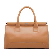 Genuine leather handbag handbag Brown