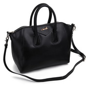Genuine leather Lady hobos bag Black