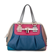 Designer leather handbag Blue