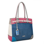 Fashion Genuines leather hanbag Blue