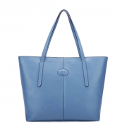 Cowskin tote bag Blue
