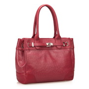 Cowhide ostrich grain  bag red