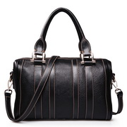 Cowhide lady handbags black