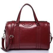 Cowhide Leather women bags Red