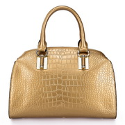 Paris series crocodile pattern women tote bag gold
