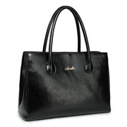Elegance cowhide leather handbag Black