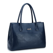 Elegance cowhide leather handbag  Blue
