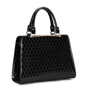 Fashion Bright leather women handbag Black