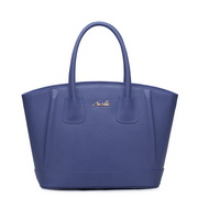 NUCELLE Cowhide fashion designer ladies handbag Blue